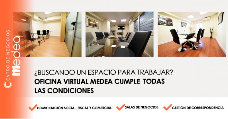¿Buscando un espacio para trabajar? Oficina virtual Medea cumple todas las condiciones.