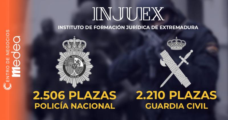 Oposiciones a Policía Nacional y Guardia Civil con INJUEX
