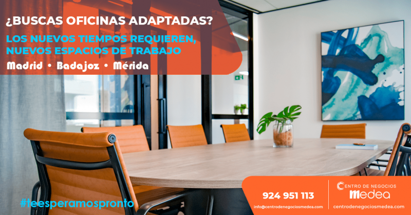 ¿Buscas oficinas adaptadas? Centro de Negocios Medea